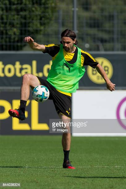 Neven Subotic of Dortmund controls the ball during a training session at the BVB Training center on September 4 2017 in Dortmund Germany
