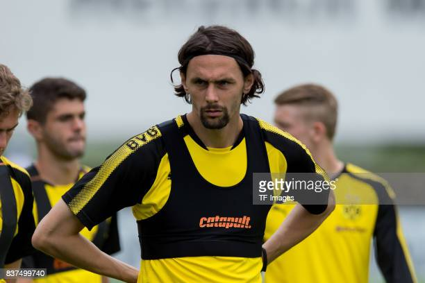 Neven Subotic of Dortmund looks on during a training session as part of the training camp on July 31 2017 in Bad Ragaz Switzerland