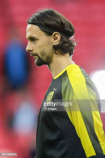 Neven Subotic of Dortmund looks on during the UEFA Champions League group H match between Tottenham Hotspur and Borussia Dortmund at Wembley Stadium...