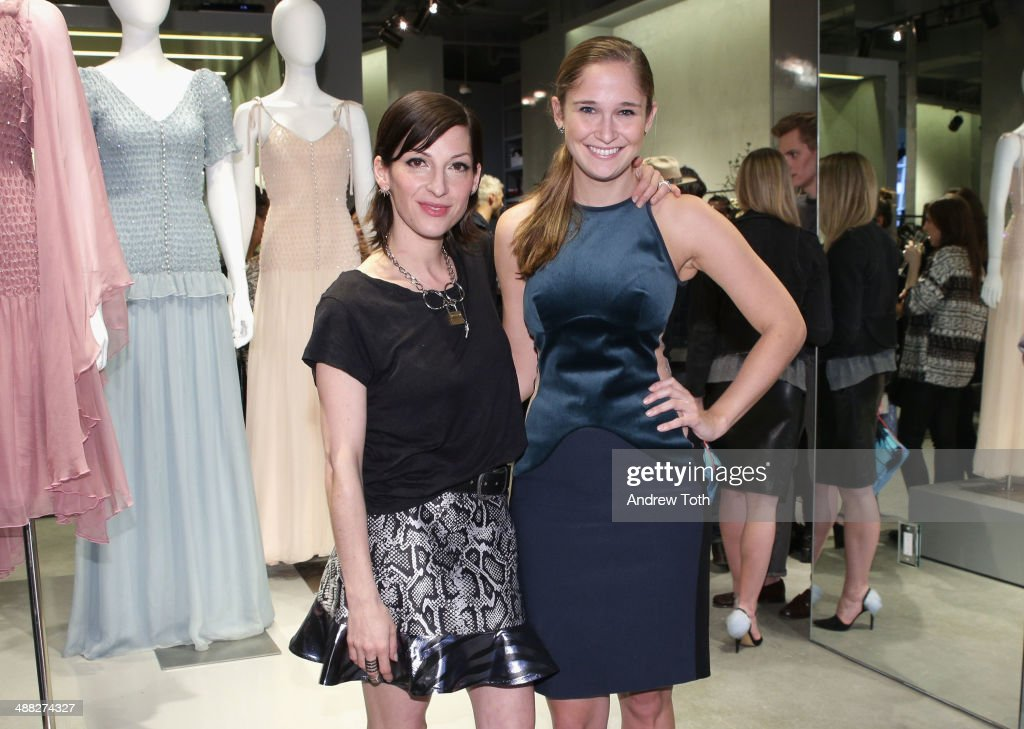 Nevena Borissova (L) and Sarah Flint attend the Rodarte Book Launch Party at Curve Boutique on May 4, 2014 in New York City.