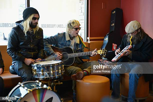 Never Shout Never performs at Taco Bell's first ever preorder pickup event on February 6 2016 in Toledo Ohio