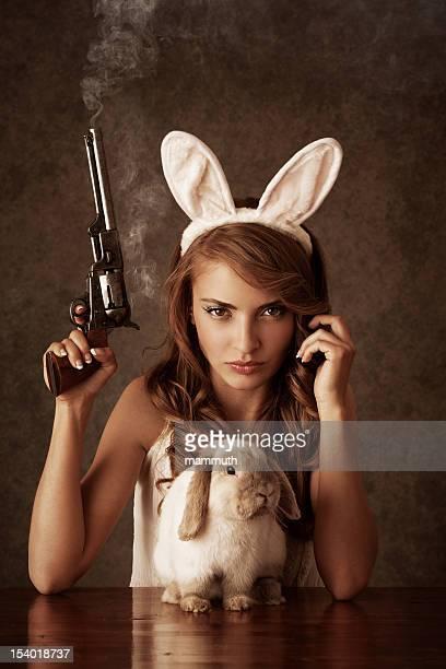Jamais jouent avec le lapin de Pâques