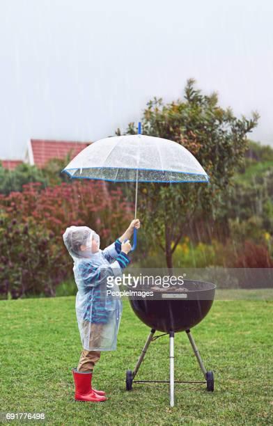 Nevermind den Regen, ich habe Hunger!