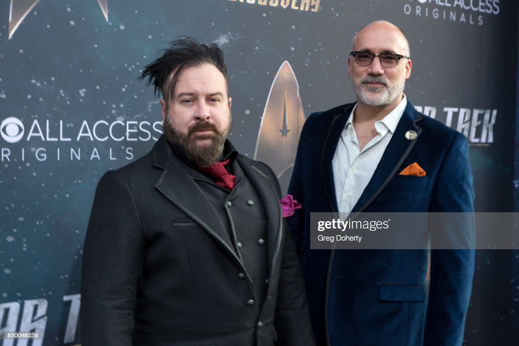 Neville Page and Glenn Hetrick arrive for the Premiere Of CBS's 'Star Trek: Discovery' at The Cinerama Dome on September 19, 2017 in Los Angeles, California.