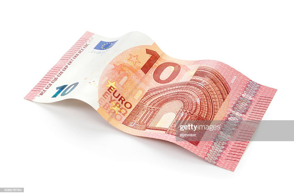 New 10 Euro bill isolated with clipping path : Stock Photo