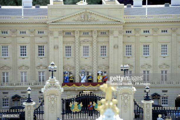 A new 10cm high LEGO model of Queen Elizabeth II complete with a real diamond encrusted crown with new figures of the Duke and Duchess of Cambridge...