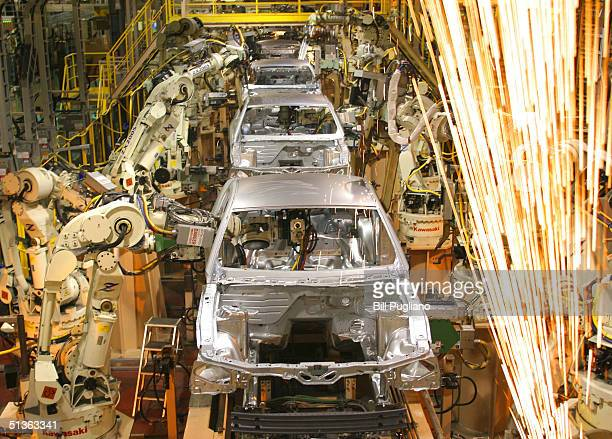 New 2005 Ford Mustangs are assembled at a new plant known as Auto Alliance International September 27 2004 in Flat Rock Michigan Ford Motor Company...