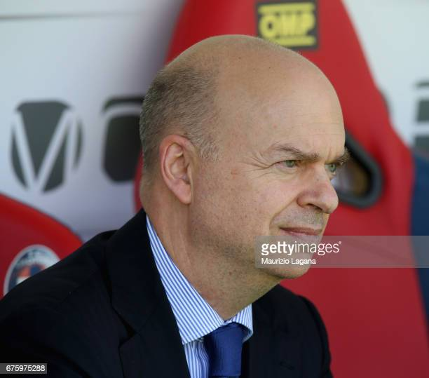 New AD of Milan Marco Fassone during the Serie A match between FC Crotone and AC Milan at Stadio Comunale Ezio Scida on April 30 2017 in Crotone Italy