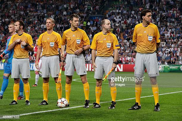 new adidas outfit referee and linesmen during the UEFA Champions League group F match between Ajax Amsterdam and Paris SaintGermain on September 17...