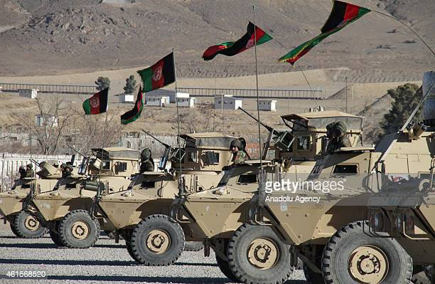 New Afghan National Army special forces attend their graduation ceremony in Kabul Afghanistan on January 15 2015 Afghan Special Forces have an...