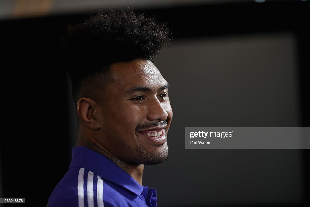 New All Black <a gi-track='captionPersonalityLinkClicked' href=/galleries/search?phrase=Ardie+Savea&family=editorial&specificpeople=8836502 ng-click='$event.stopPropagation()'>Ardie Savea</a> during the New Zealand All Blacks squad announcement at The Heritage Hotel on May 29, 2016 in Auckland, New Zealand.