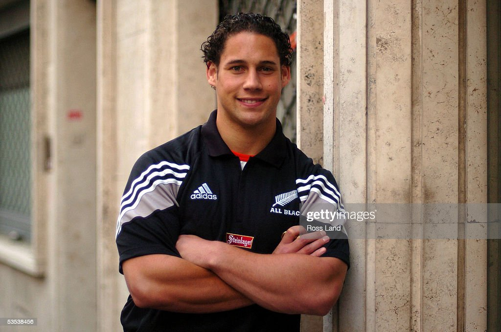 New All Black Luke McAlister in Rome Tuesday November09 2004 has been named as a reserve for the rugby test against Italy Saturday