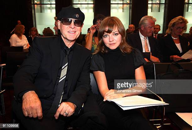 New ambassadors for the Jose Carreras Leukaemia foundation Klaus Meine and singer Annett Louisan attend the announcement ceremony on September 24...