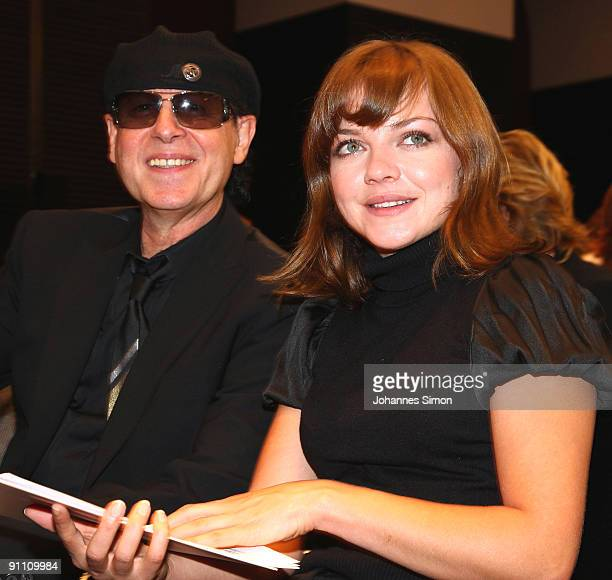 New ambassadors for the Jose Carreras Leukaemia foundation Klaus Meine and Annett Louisan attend the announcement ceremony on September 24 2009 in...