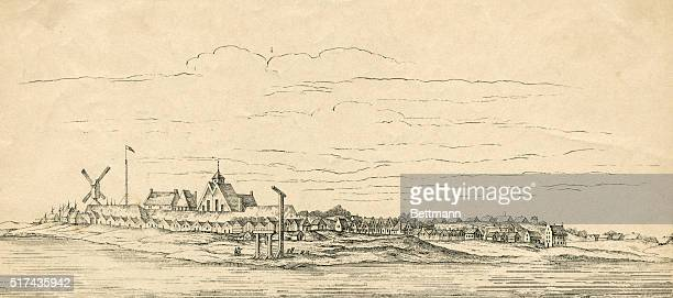 New Amsterdam now New York taken from a Dutch map of 1656