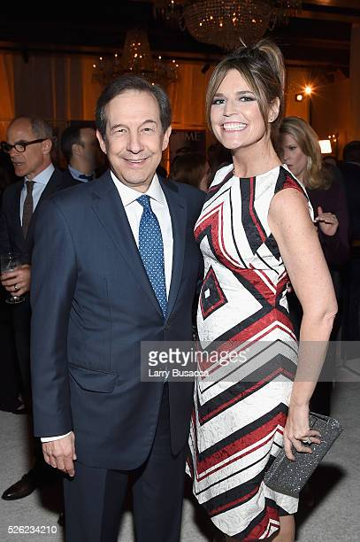 New anchor Chris Wallace and Today Show CoAnchor Savannah Guthrie attend TIME and People's Annual White House Correspondents' Association Cocktail...