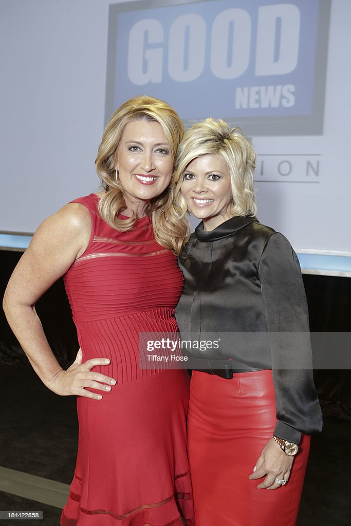 New Anchors Wendy Burch and Leslie Miller attend the Good News Foundation's Feel Good event of the year honoring Maria Shriver with the Lifetime Achievement Award at The Beverly Hilton Hotel on October 13, 2013 in Beverly Hills, California.