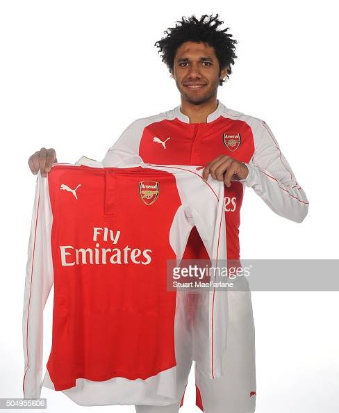 New Arsenal signing Mohamed Elneny at London Colney on January 14 2016 in St Albans England