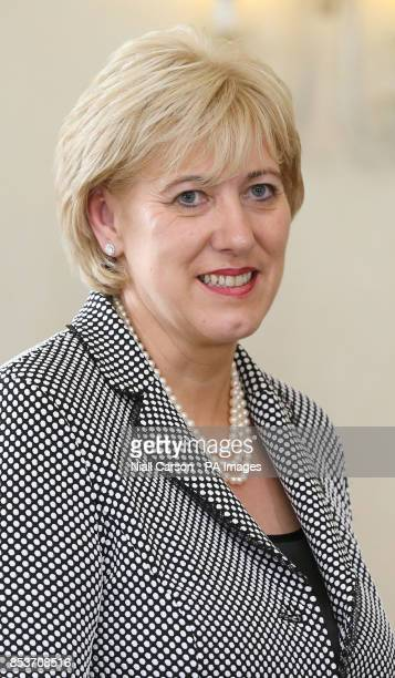 New Arts Minister Heather Humphreys after she received her Ministerial Seal of Office at Aras an Uachtarain Dublin after today's cabinet reshuffle as...