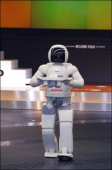 New Asimo Humanoid Robot In Tokyo Japan On February 05 2006 Honda Motor Co Ltd showed in public at the head office of showroom of Honda a new ASIMO...
