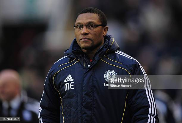 New assistant Chelsea coach Michael Emenalo ahead of the Barclays Premier League match between Birmingham City and Chelsea at St Andrews on November...
