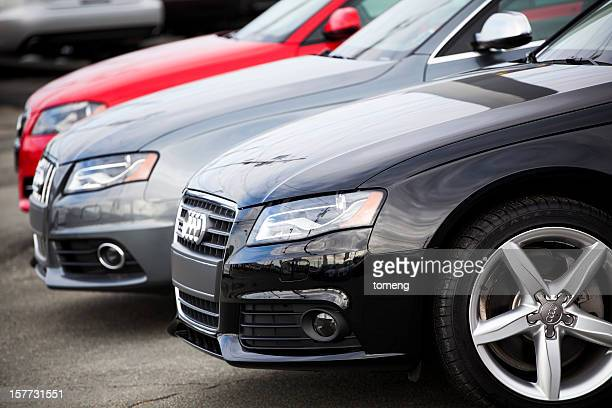 New Audi Vehicles in a Row