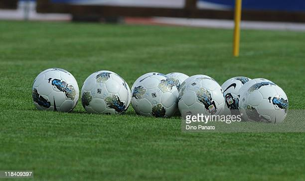 New ball of Serie A tim Italy championship during Palermo pre season training at Sport Well Center on July 7 2011 in Malles Venosta near Bolzano Italy
