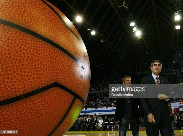 New ball presentation before the Euroleague Basketball season opening match Game 1 between Prokom Trefl Sopot and CSKA Moscow at the Olivia Sport...