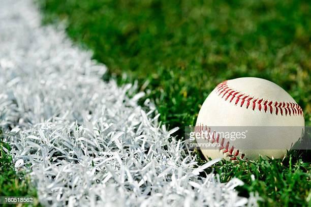 New Baseball along foul line