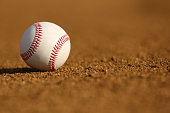 New Baseball on the Infield Dirt with room for copy