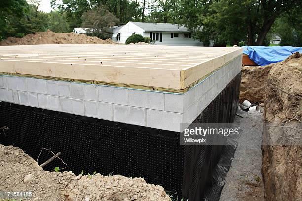 新しい地下財団防水
