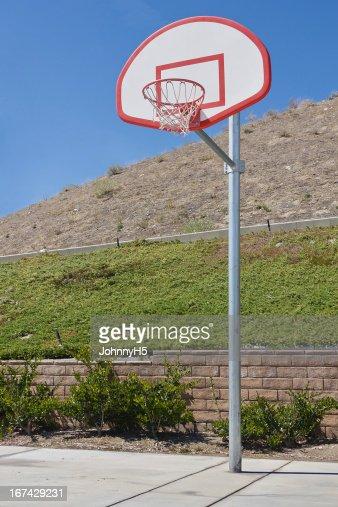 Novo campo de basquetebol : Foto de stock