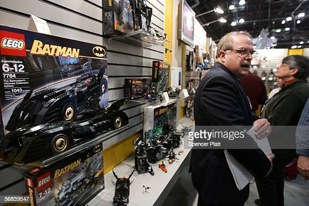 A new Batman car by the toy company Lego is displayed at the American International Toy Fair at the Jacob K Javits Convention Center February 13 2006...