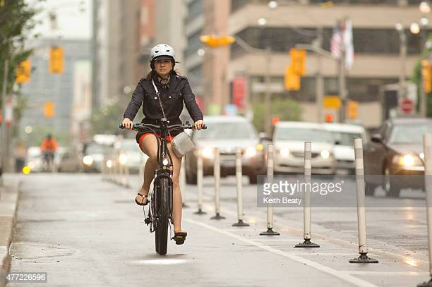 New bike lanes on Richmond Adelaide and Simcoe street have tripled cycling on those stretches of road but haven't slowed traffic according to a...
