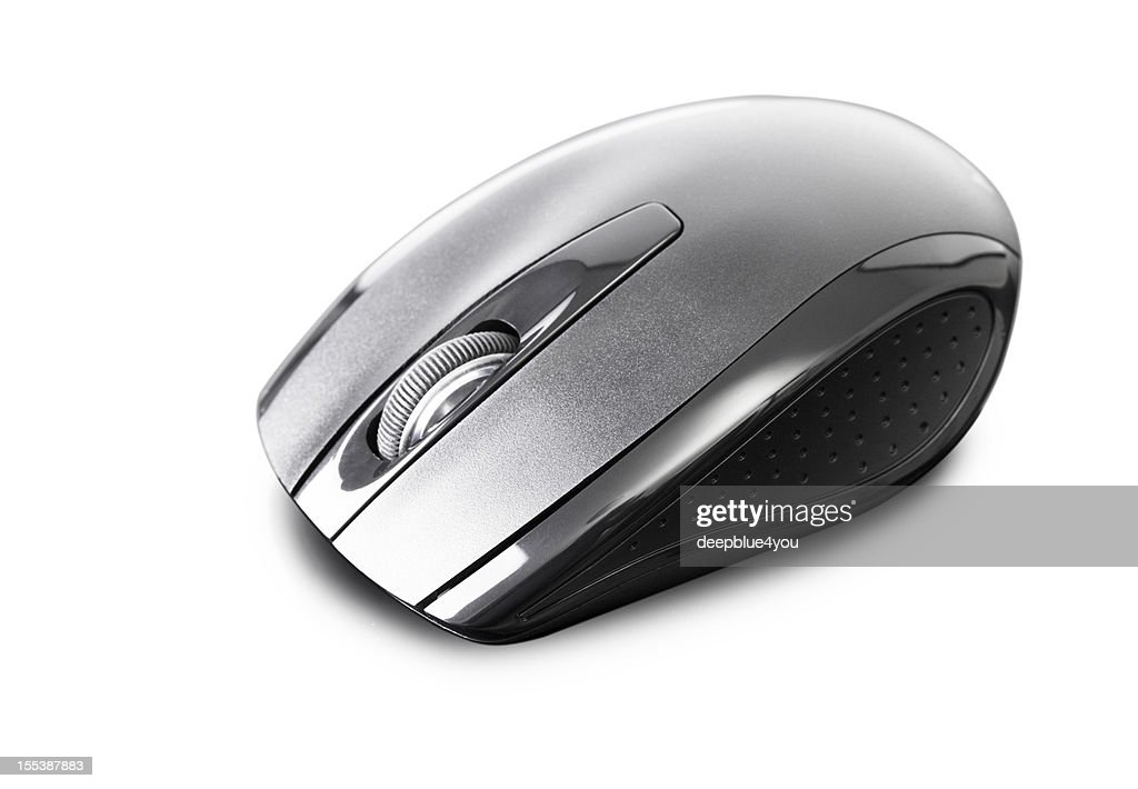 new black wireless pc mouse on white