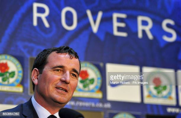 New Blackburn Rovers manager Gary Bowyer is unveiled during a press conference at Ewood Park Blackburn
