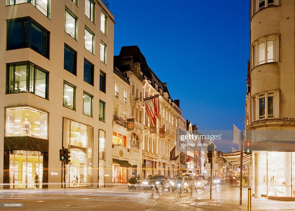 New Bond Street - major shopping street in London