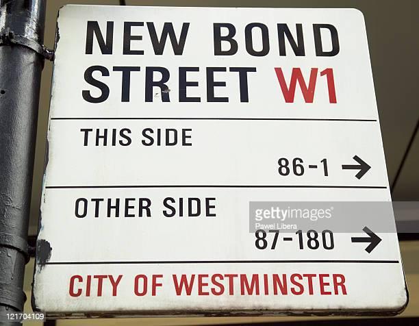 New Bond Street Sign, West End, London, UK