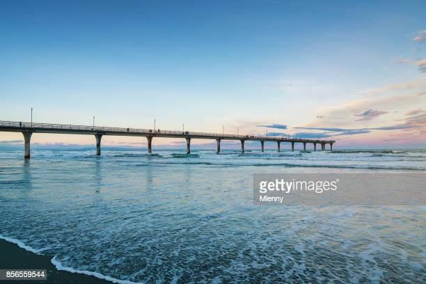 New Brighton Beach Pier Christchurch Neuseeland