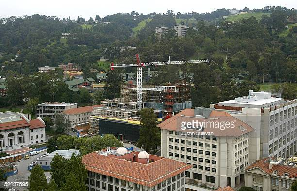 A new building under construction is seen on the University of California at Berkeley campus February 24 2005 in Berkeley California The City of...