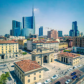 New Building and Skylines in Milan Italy