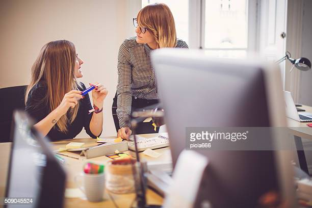 New business women team working in the startup office