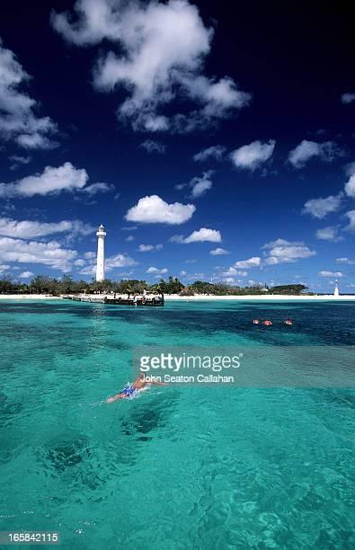 New Caledonia, Amédée Island and lighthouse.