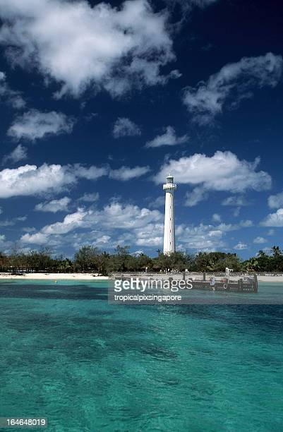 New Caledonia, Amédée Island, the lighthouse.