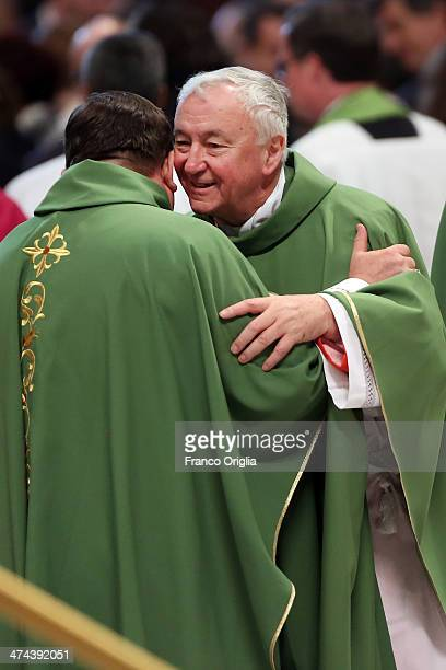 New Cardinal Archbishop of Westminster Vincent Nichols attends a mass with newly appointed cardinals held by Pope Francis at St Peter's Basilica on...