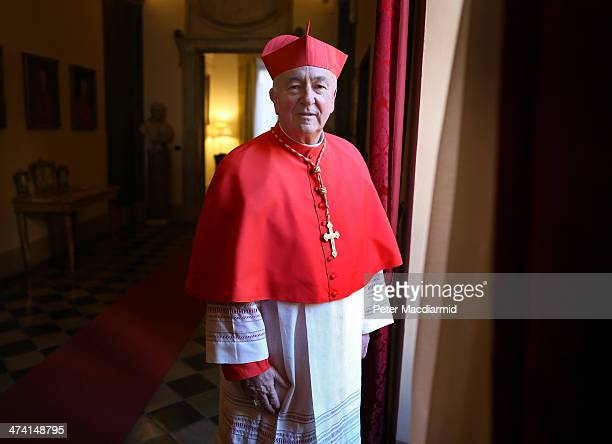 New Cardinal Vincent Nichols poses for photographs at The English College on February 22 2014 in Rome Italy 19 new cardinals have been created in a...