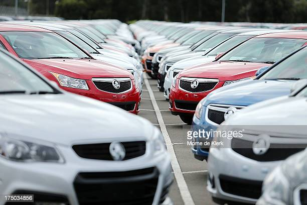 New cars are parked on the lot at the Holden manufacturing plant at Elizabeth on July 30 2013 in Adelaide Australia Holden a subsidiary of American...