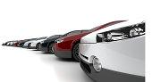 3D illustration of cars.