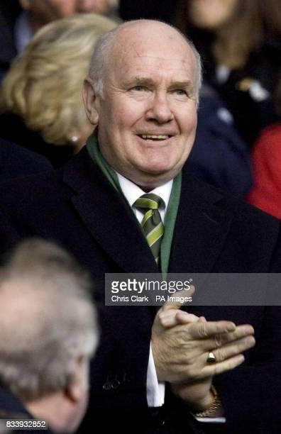 New Celtic Chairman John Reid watches during the Clydesdale Bank Scottish Premier League match at Celtic Park Glasgow