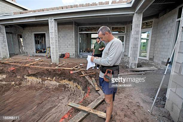 Cinder Block Pool Construction : Concrete block stock photos and pictures getty images